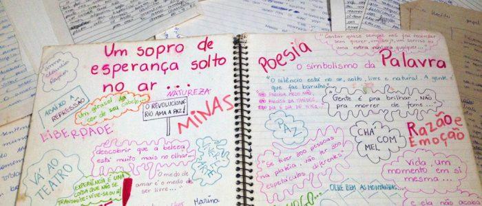 Meu caderno e poemas de adolescência