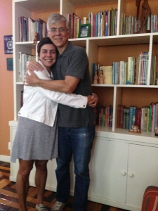 O abraço sempre gostoso do meu irmão José Roberto