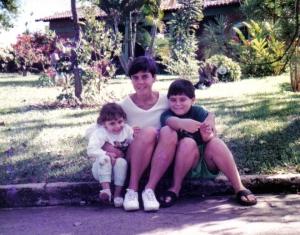 Layla, eu e Elias, em 1997